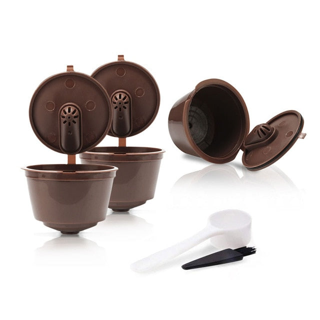 Coffee Capsule Cup - Reusable Filters - Brown - Arezel.com