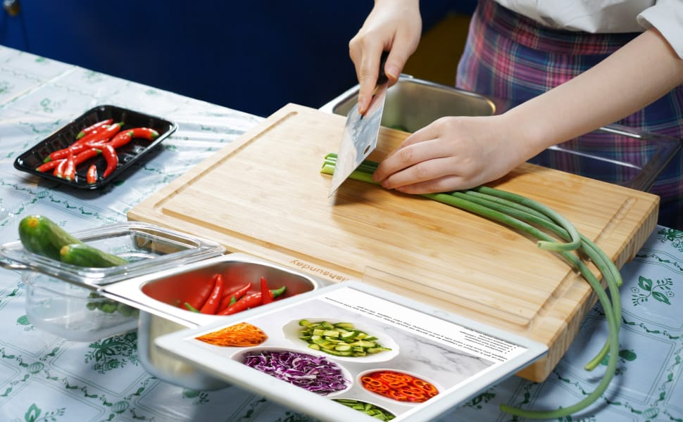 Arezel - EasyChop Workstation - Chopping Board With Containers