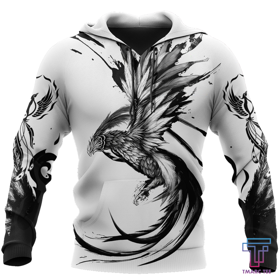 Phoenix Tattoo Style 3D All Over Printed Hoodie Shirt by SUN AM220501 - Amaze Style™-Apparel