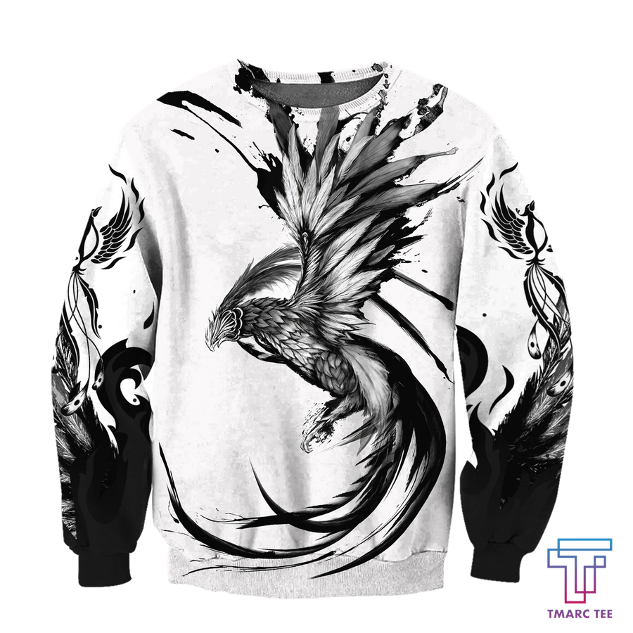 Phoenix Tattoo Style 3D All Over Printed Sweatshirt by SUN AM220501 - Amaze Style™-Apparel