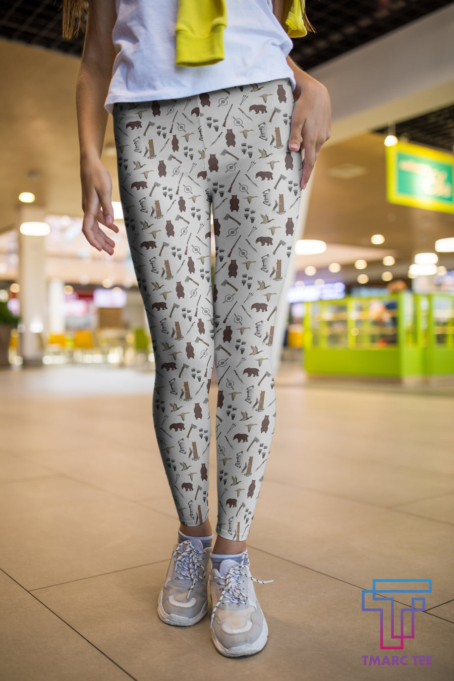 3D All Over Print Hunting Beer Legging - Amaze Style™-Apparel
