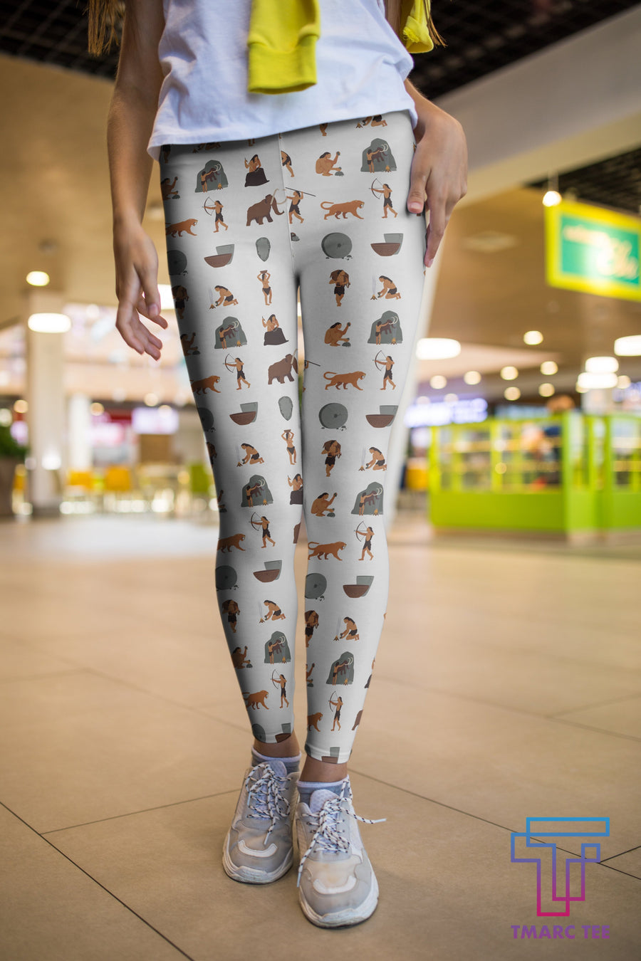 3D All Over Print Hunting Mammoth And Tiger Legging - Amaze Style™-Apparel