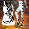 Phoenix Tattoo Style Combo Legging + Tank Limited by SUN AM220501 - Amaze Style™-Apparel