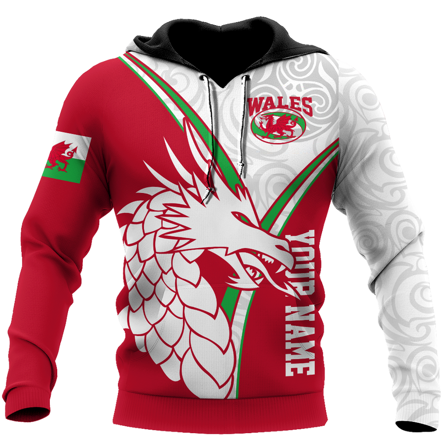 Premium Personalized 3D Printed Wales Dragon Shirts MEI