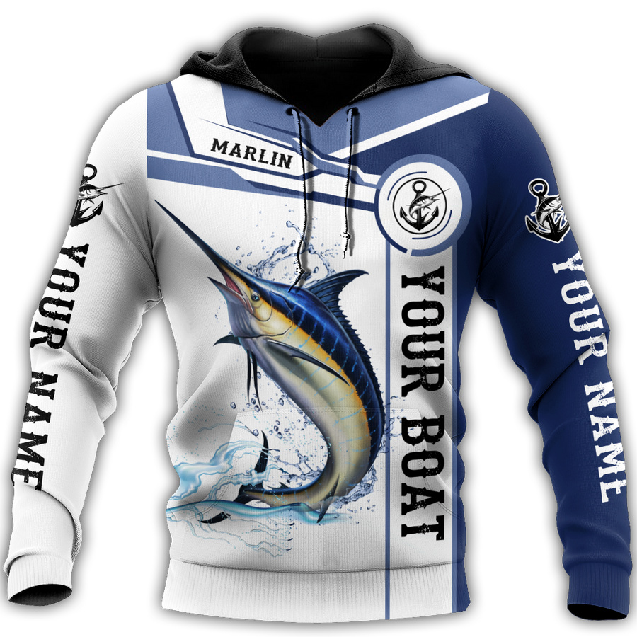 Custom name Marlin fishing Catch and Release 3D Design print shirts