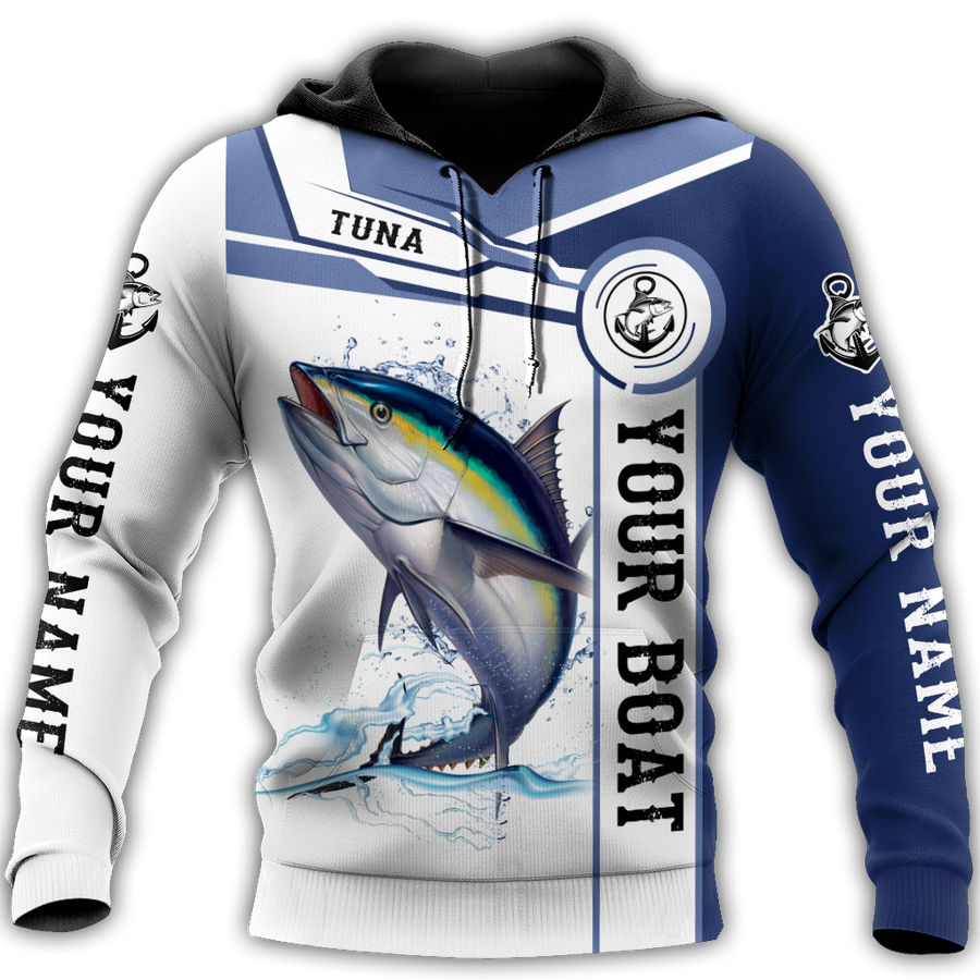 Custom name Tuna fishing Catch and Release 3D Design print shirts