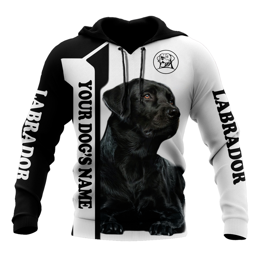 Premium Love Dog Black Labrador Retriever 3D All Over Printed Unisex Shirts