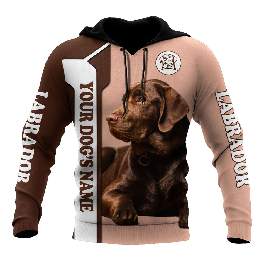 Premium Love Dog Chocolate Labrador Retriever 3D All Over Printed Unisex Shirts