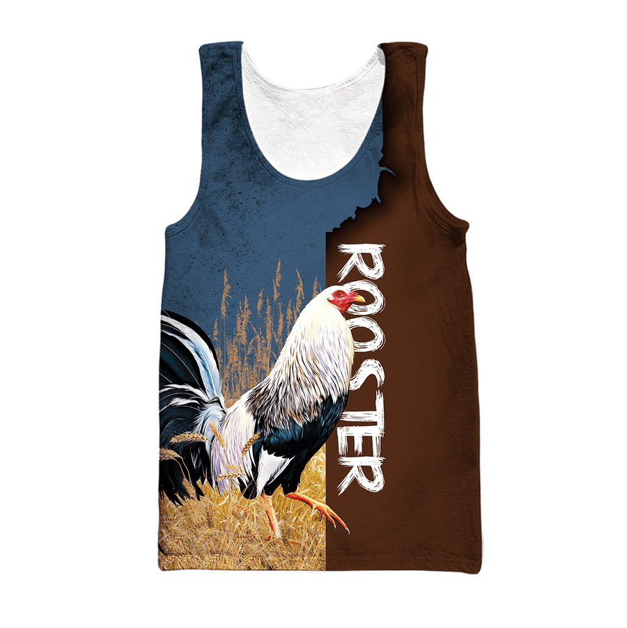 Premium White Rooster 3D All Over Printed Unisex Shirts