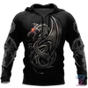3D Armor Tattoo and Dungeon Dragon Hoodie HAC130102 - Amaze Style™-Apparel