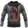 3D Tattoo and Dungeon Dragon Hoodie HAC020109 - Amaze Style™-Apparel