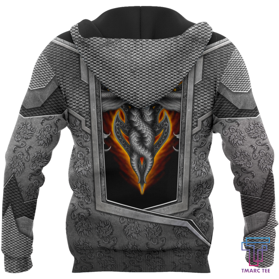 3D Tattoo and Dungeon Dragon Hoodie HAC020108 - Amaze Style™-Apparel