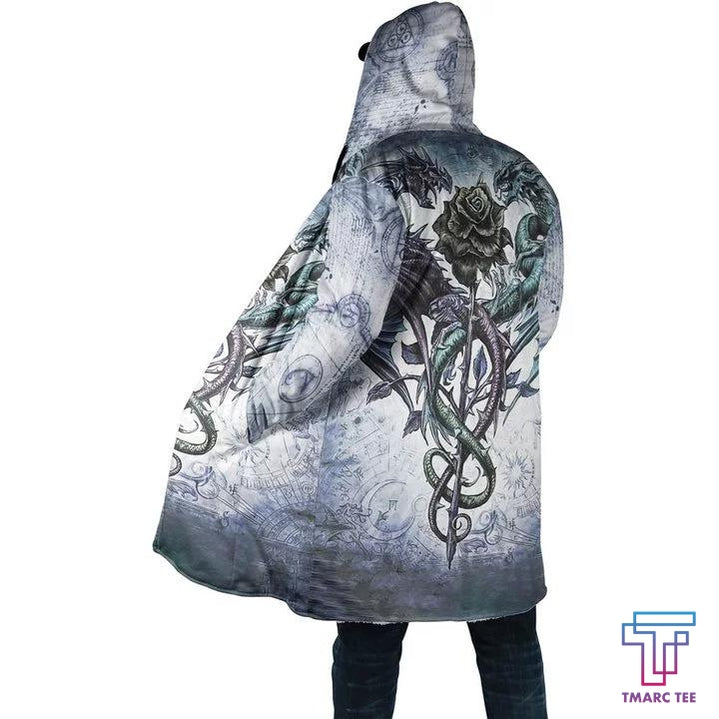 3D Tattoo and Dungeon Dragon Hoodie Coat for Men and Woman NM050925 - Amaze Style™-Apparel