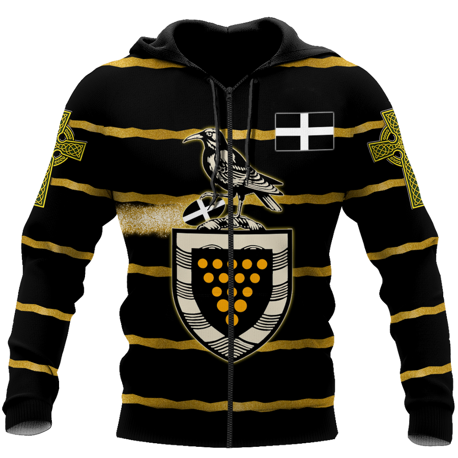 Premium 3D Printed Unisex Cornwall Rugby Shirts MEI