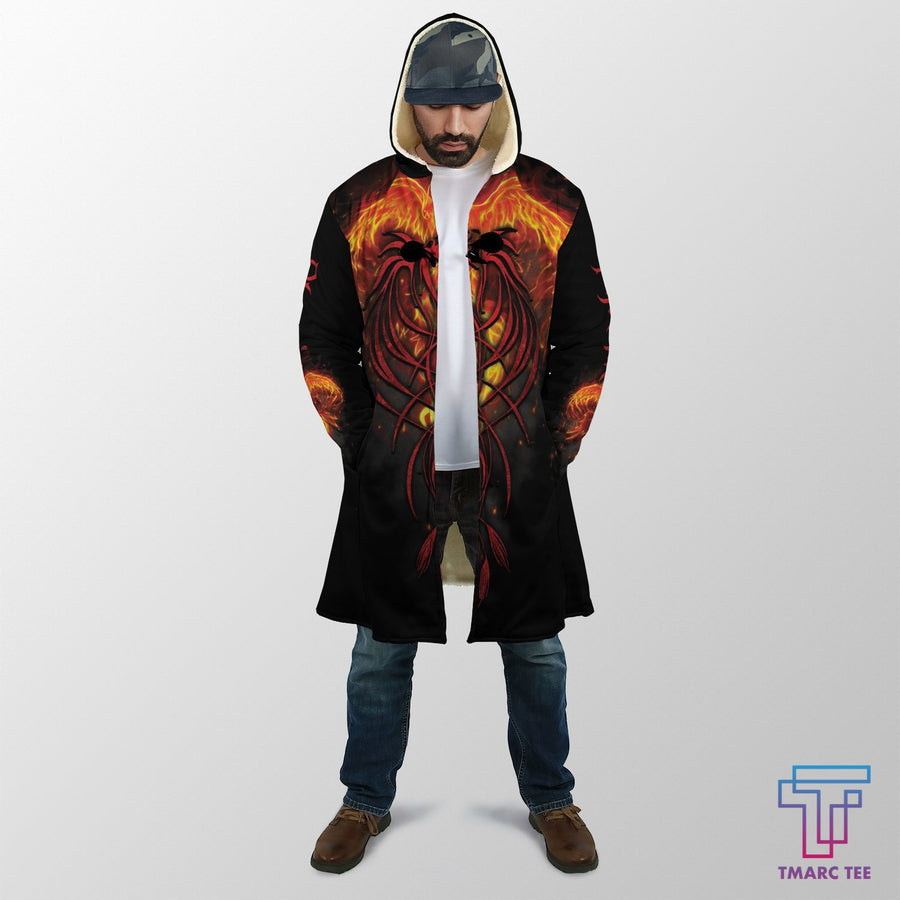 Phoenix Tattoo Coat for Men and Woman AM200501 - Amaze Style™-Apparel