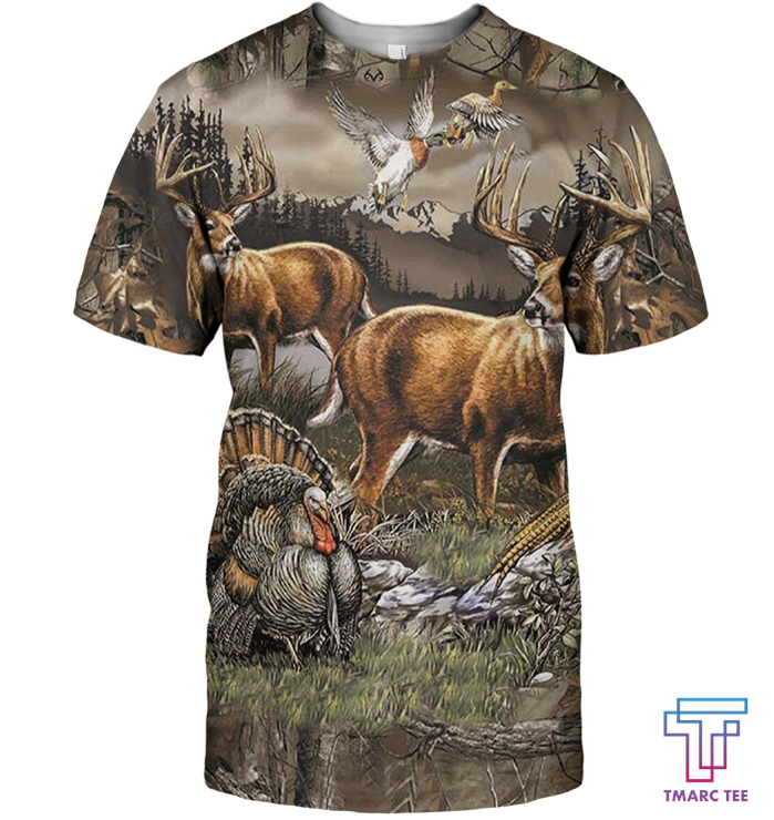3D All Over Print Deer Hunting Shirt - Amaze Style™-Apparel