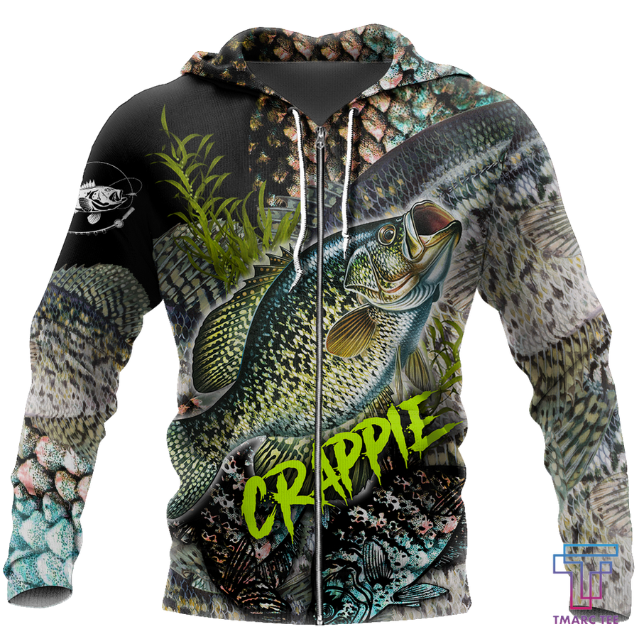 Crappie Fishing on skin 3D all over shirts for men and women TR061201 - Amaze Style™-Apparel