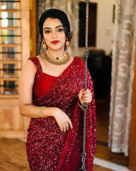 Red saree for women