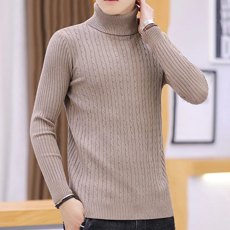 Winter Warm Turtleneck Sweater Men Fashion sweaters Knitted Mens Sweaters Casual trendy Male Slim Fit