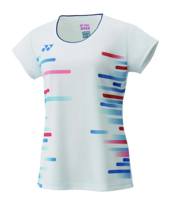 Yonex T-shirt Women White with dots - Sports Arena