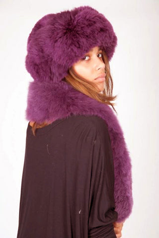 Alpaca Russian Hat - Plum*