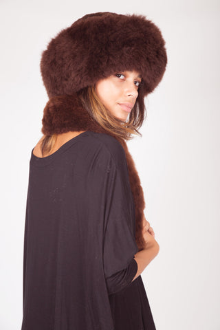 Alpaca Russian Hat - Brown