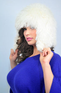 Alpaca Aviator Hat - White