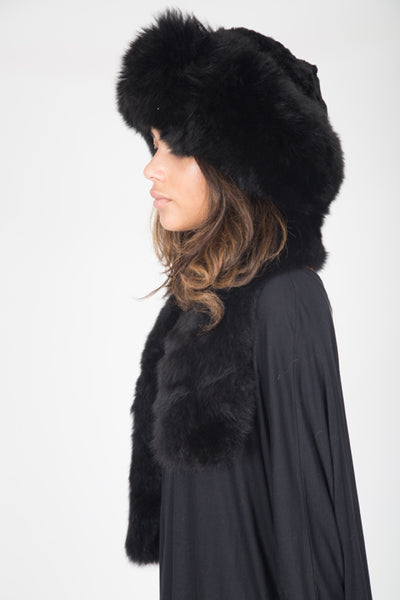 Alpaca Russian Hat - Black