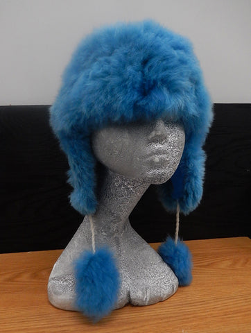 Alpaca Aviator Hat - Blue