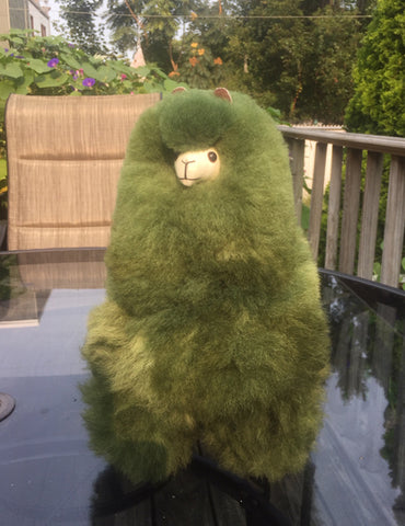 Alpaca Stuffed Toy - Green Alpaca