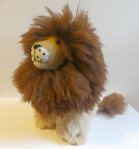 Alpaca Stuffed Toy - Natural Color Lion