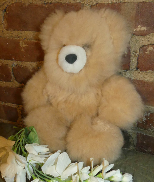 Alpaca Stuffed Toy - Natural Color Bear