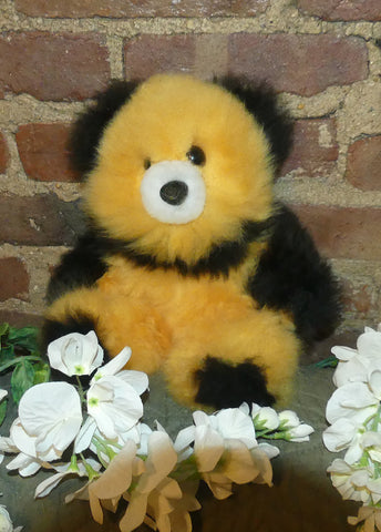 Alpaca Stuffed Toy - Bear Spotted Yellow/Black