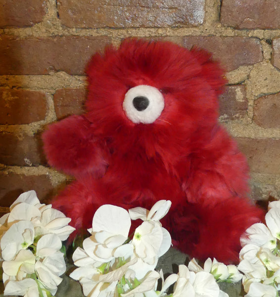 Alpaca Stuffed Toy - Red Bear