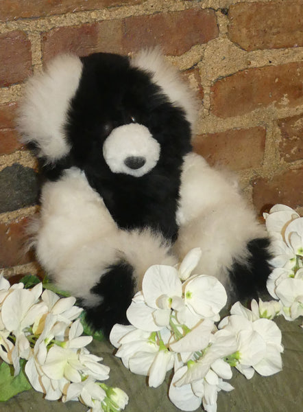 Alpaca Stuffed Toy - Bear Spotted White/Black