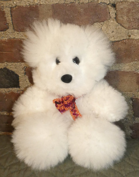 Alpaca Stuffed Toy - White Bear