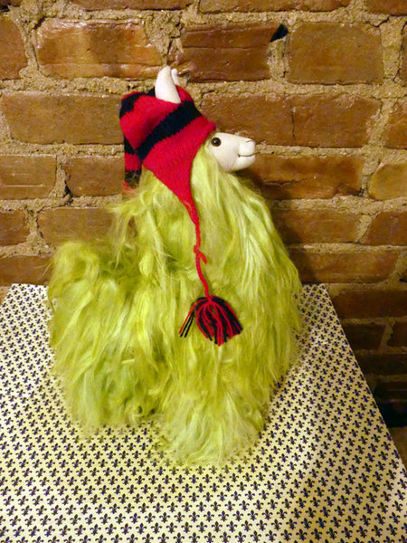 Alpaca Stuffed Toy - Lime Green Alpaca Suri