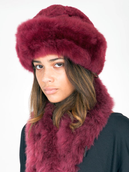 Alpaca Russian Hat - Red