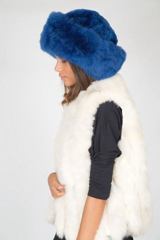 Alpaca Russian Hat - Royal Blue