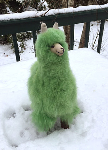 Alpaca Stuffed Toy - Emerald Green Alpaca