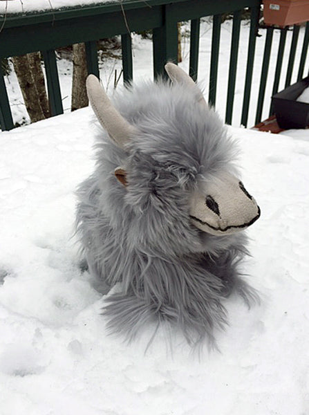 Alpaca Stuffed Toy - Highland Cow Silver