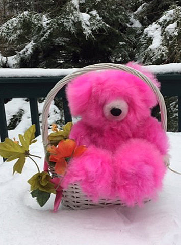 Alpaca Stuffed Toy - Hot Pink Bear