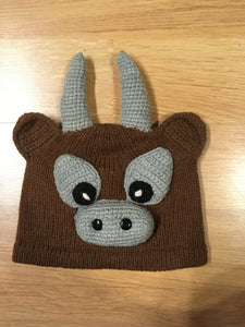 Alpaca Knitted Hats for Kids - Moose