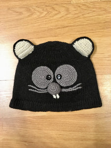 Alpaca Knitted Hats for Kids -Cat