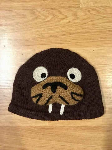 Alpaca Knitted Hats for Kids -Sea Lion