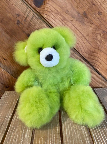 Alpaca Stuffed Toy - Lime Green Bear