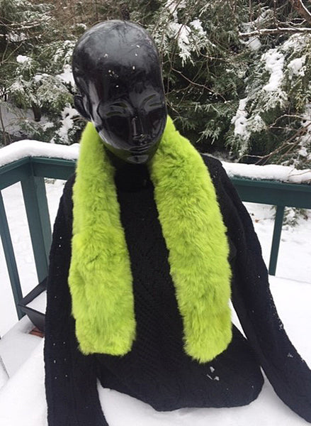 Alpaca Lime Green Stole