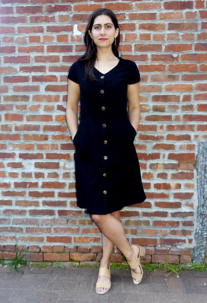 Designer Summer cotton dress- Megan Black