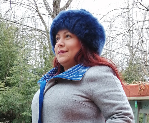 Alpaca Russian Hat - Navy Blue