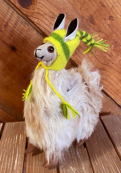 Alpaca Stuffed Toy - Natural Alpaca Suri- 10 inch size